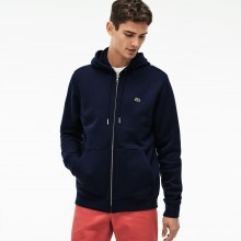 Lacoste Mens 2018 Full Zip Brushed Fleece Hoodie