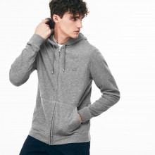 Lacoste Mens 2018 Motion Cotton Fleece Zip Hoodie