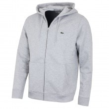 Lacoste Mens Hooded Zippered Brushed Fleece Hoodie