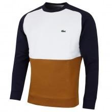 Lacoste Mens Colorblock Pique Fleece Sweatshirt