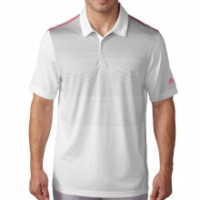 Adidas Golf 2016 Mens ClimaCool Ombre Stripe Polo Shirt