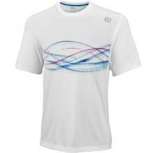 Wilson Mens LSU Soundwave Print Crew Tee Sports Tennis Mesh UV Tech T Shirt