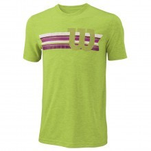Wilson Sport Mens Stripe W Tech T Shirt Tennis Tee