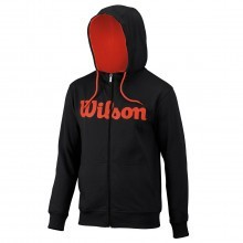 Wilson Sport Mens Script Cotton Full Zip Hoody