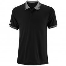 Wilson Sport Mens Team NanoWIK Tech 3 Button Ribbed Knit Polo Shirt