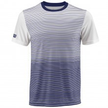 Wilson Sport Mens Team Sublimated Gradient Striped NanoWIK Crew T Shirt