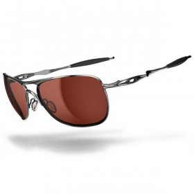 Oakley Sports Mens Crosshair Sunglasses - Polished Chrome/VR28 Black Iridium