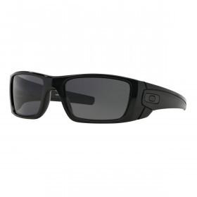 Oakley Mens Fuel Cell Sunglasses - Polished Black/Matte Black/Warm Grey
