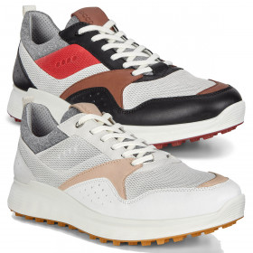 Ecco Mens 2020 Ecco M Golf S-Casual Waterproof Leather Spikeless Golf Shoes
