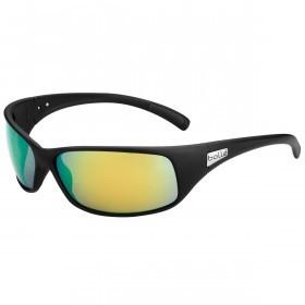 Bolle Mens Recoil Sunglasses Polarized Brown Emerald oleo AF - Matte Black