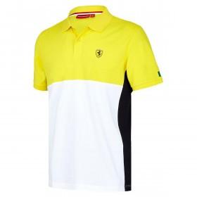 Ferrari Mens F1 FW Cut And Sew Lightweight Polo Shirt