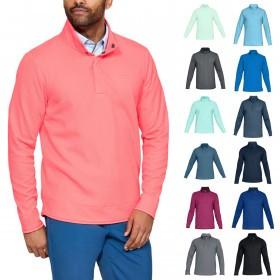 Under Armour Mens Sweaterfleece Snap Mock Sweater