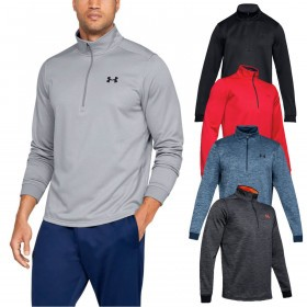 Under Armour Mens Armour Fleece Half 1/2 Zip Lightweight Pullover Sweater