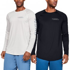 Under Armour Mens MK1 LS Graphic Training Gym Stretch HeatGear T-Shirt