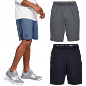 Under Armour Mens MK1 Wordmark Mesh HeatGear Soft Lightweight Shorts