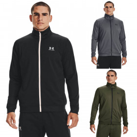 Under Armour Mens 2021 Sportstyle Tricot Moisture Wicking Quick Drying Jacket