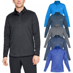 Under Armour Mens UA Storm Heather Snap Water Repellent Mock Pullover