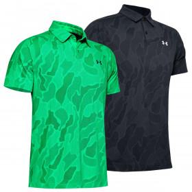 Under Armour Mens 2020 Vanish Jacquard Microthread Wicking Stretch Polo Shirt