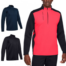 Under Armour Mens 2020 Crestable Storm Daytona Wicking Stretch 1/2 Zip Sweater