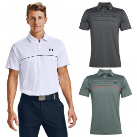 Under Armour Mens Vanish 1UP Microthread Stretch Wicking Golf Polo Shirt