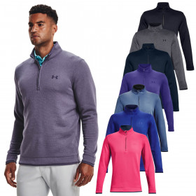 Under Armour Mens 2021 Storm SF Breathable Water Repellent 1/2 Zip Sweater