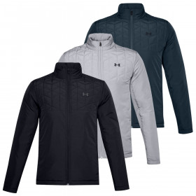 Under Armour Mens 2020 ColdGear Reactor Storm Ripstop Golf Hybrid Jacket