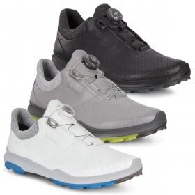 Ecco Mens 2019 Biom Hybrid 3 Boa Spikeless Leather Waterproof Golf Shoes