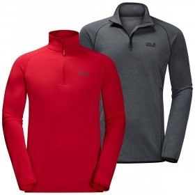 Jack Wolfskin Men's Hydropore Half Zip Base Layer