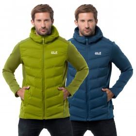 Jack Wolfskin Mens Tasman Hood Breathable Windproof Hybrid Jacket