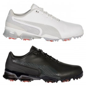 Puma Golf Mens 2019 Ignite Proadapt Water Resistant Leather Spiked Golf Shoes