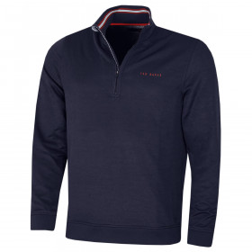 Ted Baker Mens 2020 Ryda Midlayer Comfort Stretch Quarter Zip Golf Sweater