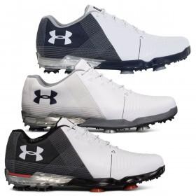 Under Armour Mens UA Spieth 2 E FIT (Wide) Waterproof Golf Shoes