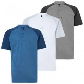 Oakley Mens 2020 Icon  Bi Color 2 Button Short Sleeve Polo Shirt
