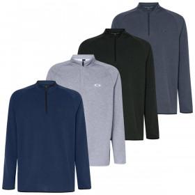 Oakley Mens 2020 Range Pullover 2.0 1/4 Zip Golf Melange Sweater
