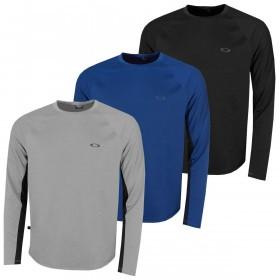 Oakley Mens Tech Knit Crew Neck Regular Fit  LS Shirt