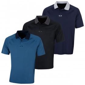 Oakley Mens SS Back Striped Regular Fit Golf Polo Shirt