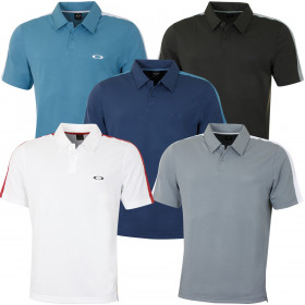 Oakley Mens Perforated Solid Lightweight Golf Polo Shirt