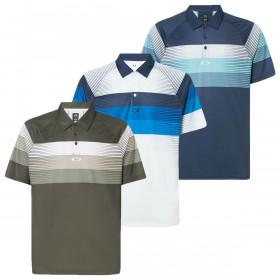 Oakley Mens Color Block Graphic Polo Shirt