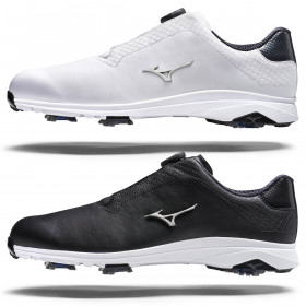 Mizuno Mens 2021 Nexlite Pro Boa Soft Touch Leather Waterproof Golf Shoes