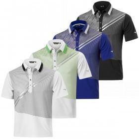 Mizuno Golf Mens Solar Cut Print Polo Shirt