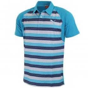Puma Golf Mens GT Glitch Stripe Golf Polo Shirt CoolCell
