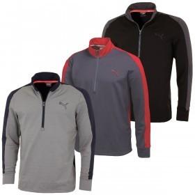 Puma Golf Mens PwrWarm 1/4 Zip Popover Sweater