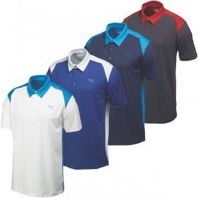 Puma Golf Mens Blocked DryCELL Performance Polo Shirt