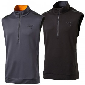 Puma Golf Mens PWRWARM Sleeveless Half Zip Knit Vest Pullover
