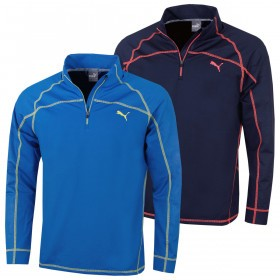 Puma Golf Mens Embossed 1/4 Zip Popover