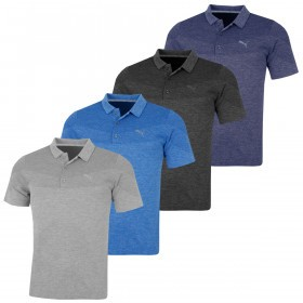 Puma Golf Mens Evoknit Seamless DryCell Moisture-Wicking Polo Shirt
