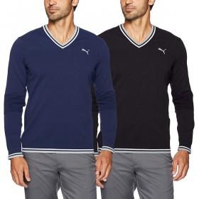 Puma Golf Mens Evoknit V Neck Sweater