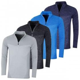 Puma Golf Mens Evoknit Seamless 1/4 Zip Pullover Jumper Sweater