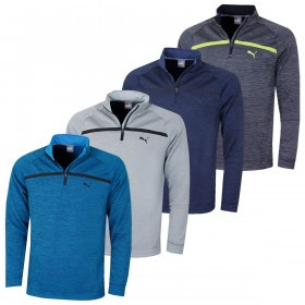 Puma Golf Mens Bonded 1/4 Zip WarmCELL Moisture Wicking Popover