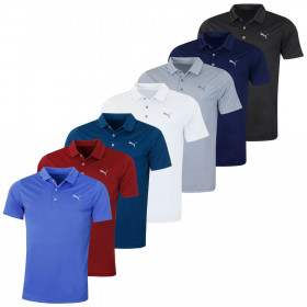 Puma Golf Mens Rotation Solid Polo Shirt